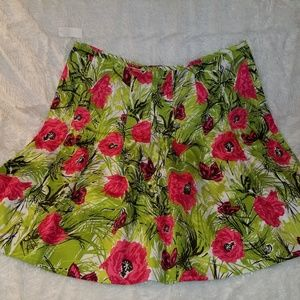 TALBOTS flower midi skirt.